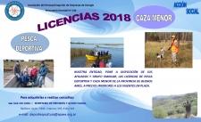 Licencias de Caza y Pesca 2018