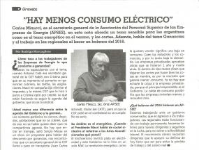 Hay menos consumo eléctrico - Revista Comunas