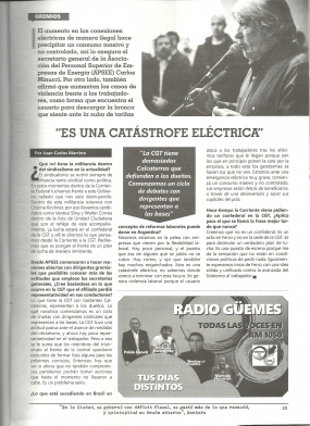 Nota a Carlos Minucci en Comunas del País - Agosto 2017