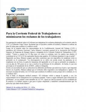 Entrevista en Primereando 1-10-16 Corriente Federal de Trabajadores