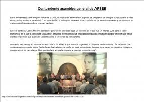 Contundente asamblea general de APSEE
