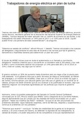 Entrevista a Carlos Minucci en Informe Político